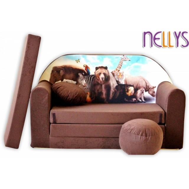 861ba9a25a98 Rozkladacia detská pohovka Nellys ® s Bobkom a vankúšikom zdarma. TIP NA  DARČEK. empty